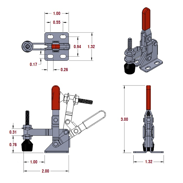 Toggle Clamps Vertical Handle Toggle Clamps 101a The